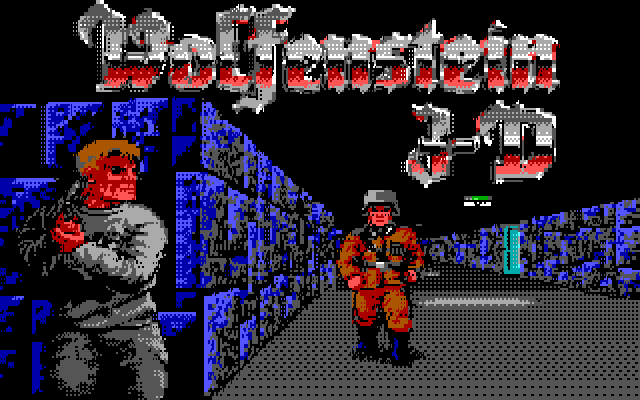 Wolfenstein 3-D CGA title screen